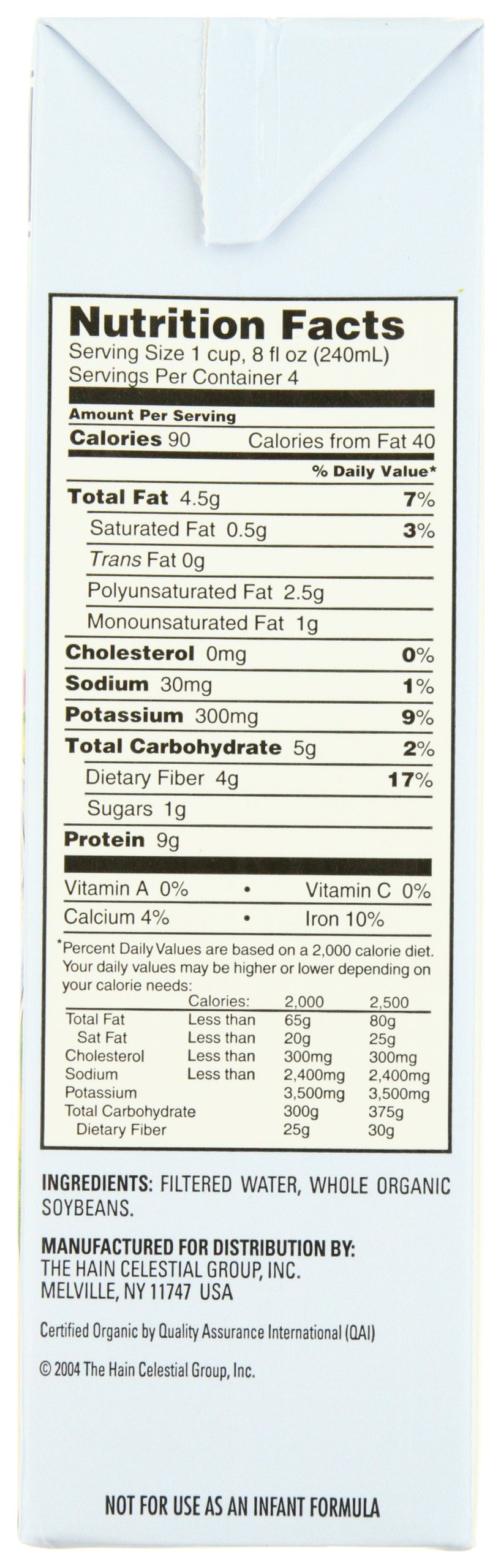Westsoy Soy Milk Unsweetened Organic, Gluten Free, 32-ounces (Pack of 6) by West Soy (Image #2)
