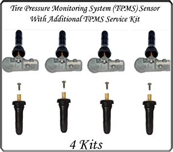 Schrader 4 KitsTIRE Pressure SENSORS TPMS Tire Pressure Monitoring System TPMS Fiat Jeep Ram Sensor Fits: Chrysler Dodge
