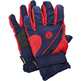 FLOSO® Kids/Childrens Extra Warm Thermal Padded Ski Gloves With Palm Grip