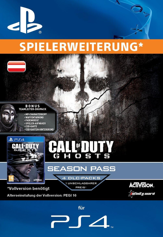 Call of Duty: Ghosts - Season Pass [Zusatzinhalt] [PS3 PSN Code für österreichisches Konto]