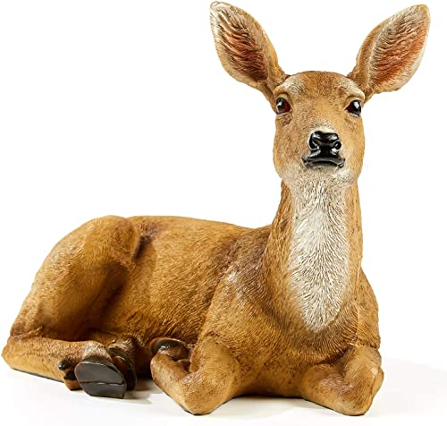 FRTCV Festive Deer Animal Sculpture Home Decor