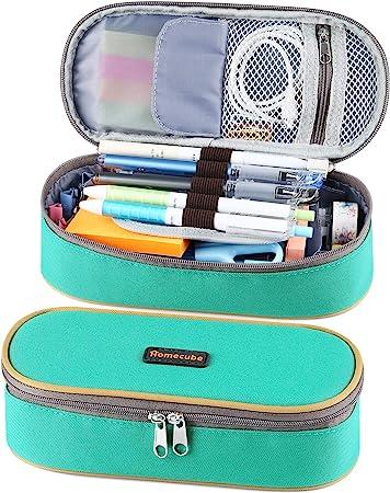 CreazyBee Unisex Big Capacity Pencil Case Pen Pouch Holder Makeap Case Storage Bag A