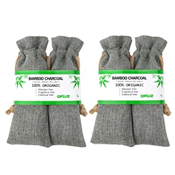 Shoes Odor Absorber, Pet Odors Eliminator All Natural Bamboo Charcoal Bag  Moisture Absorber Air Freshener