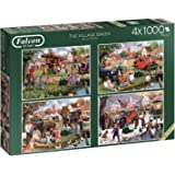 Falcon de luxe 11145 The Village Green Jigsaw Puzzles in one Box (4 x 1000-Piece)