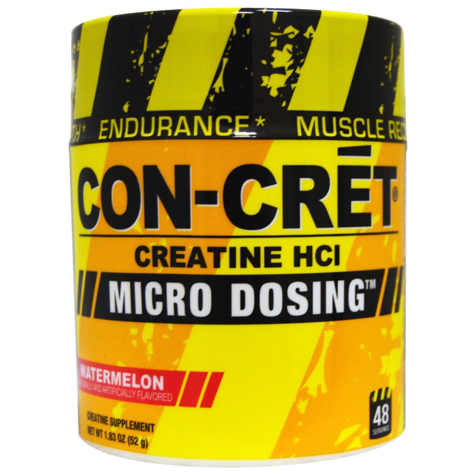 Con-Cret, Creatine HCl, Micro Dosing, Watermelon, 1.83 oz (52 g) - 2pc