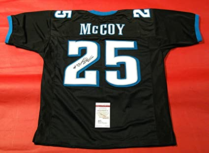 finest selection 6ea21 6e51f Amazon.com : Autographed LeSean McCoy Jersey - BLACK - JSA ...
