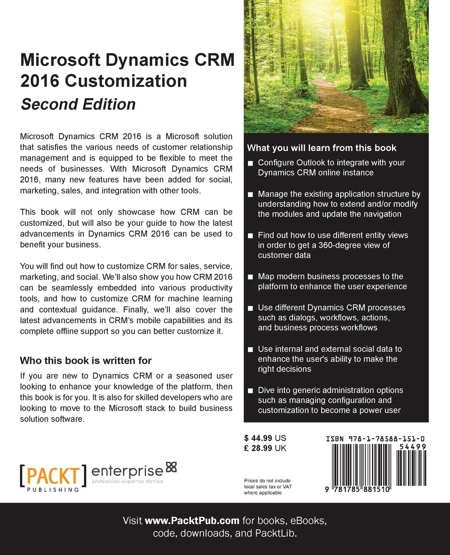 Buy Microsoft Dynamics CRM 2016 Customization - Book Online