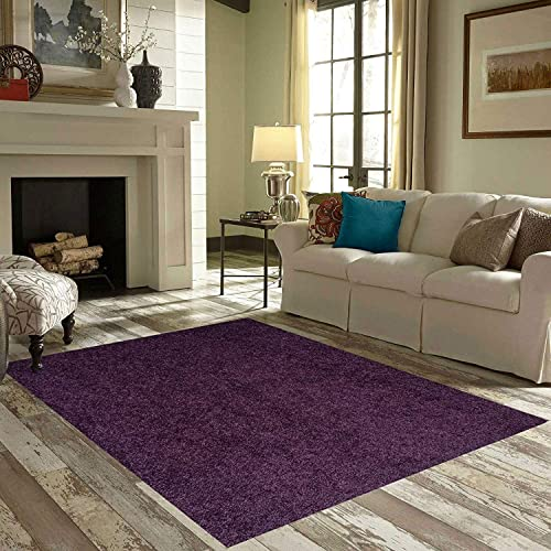 Bright House Solid Color Area Rugs Purple – 8 x10