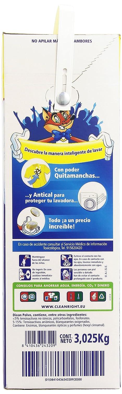 Dixan Detergente Polvo - Pack de 6 - Total: 90 Lavados (4,95 Kg): Amazon.es: Salud y cuidado personal