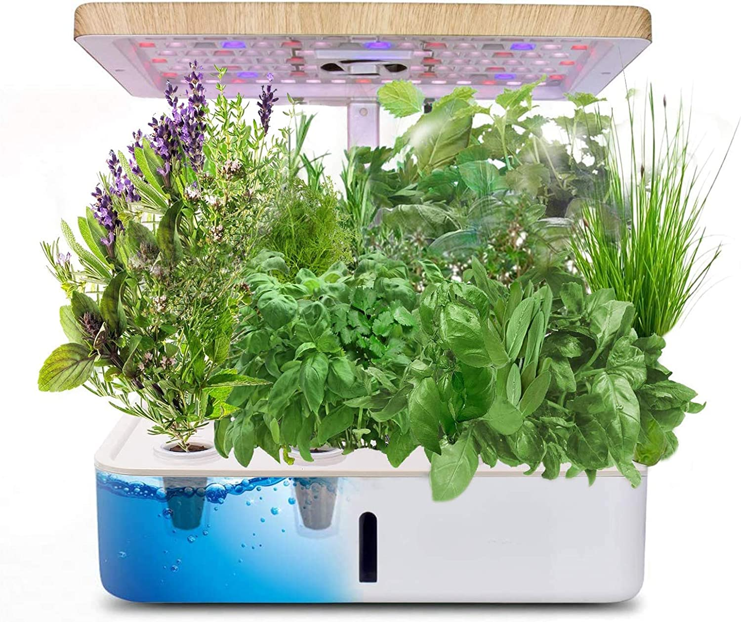 Hydroponics Growing System, Indoor Herb Garden Planter Starter Kit with Grow Light, LED Height Adjustable Smart Home Garden with Automatic Timer for Various Plants