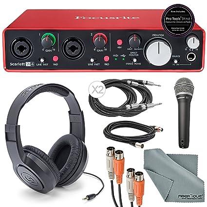 Pro Audio Equipment Focusrite Scarlett 2i4 Usb Audio Interface With Lead Audio/midi Interfaces