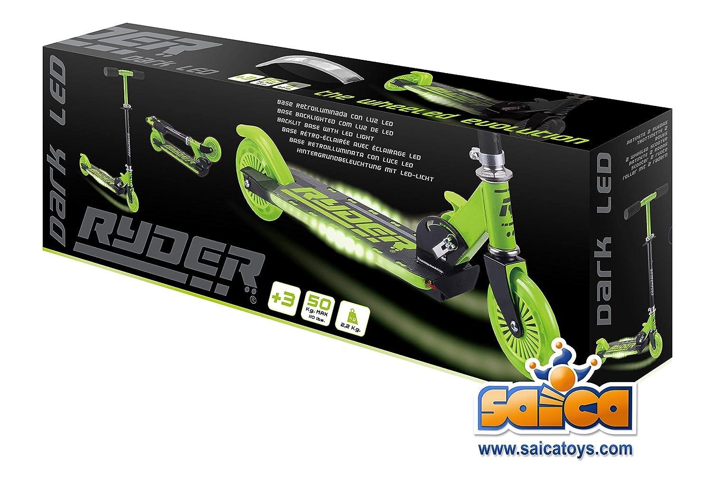 Saica Patinete Ryder Dark Verde (con luz LED en la Base ...
