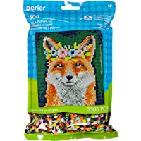 Perler Beads Floral Fox Pattern and Fuse Bead Kit, 10'' X 11'', 3503Pc