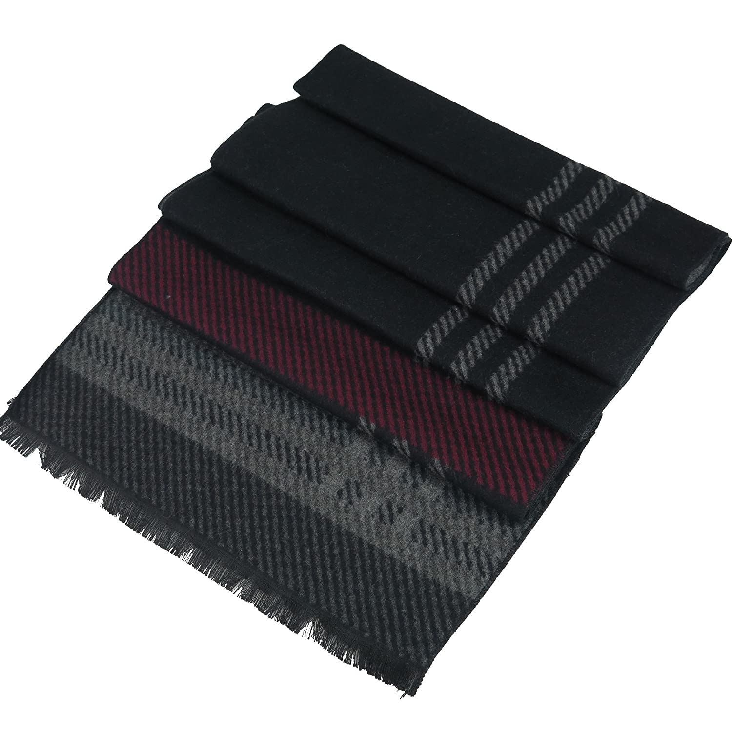 Mens Cashmere-Feel Winter Scarf By Debra Weitzner 100/% Cotton Soft And Warm Accessory In 6 Prints