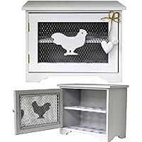 IUwnHceE Cer/ámica Blanca 6 Egg Holder .7x10x3 Art/ículos para el hogar