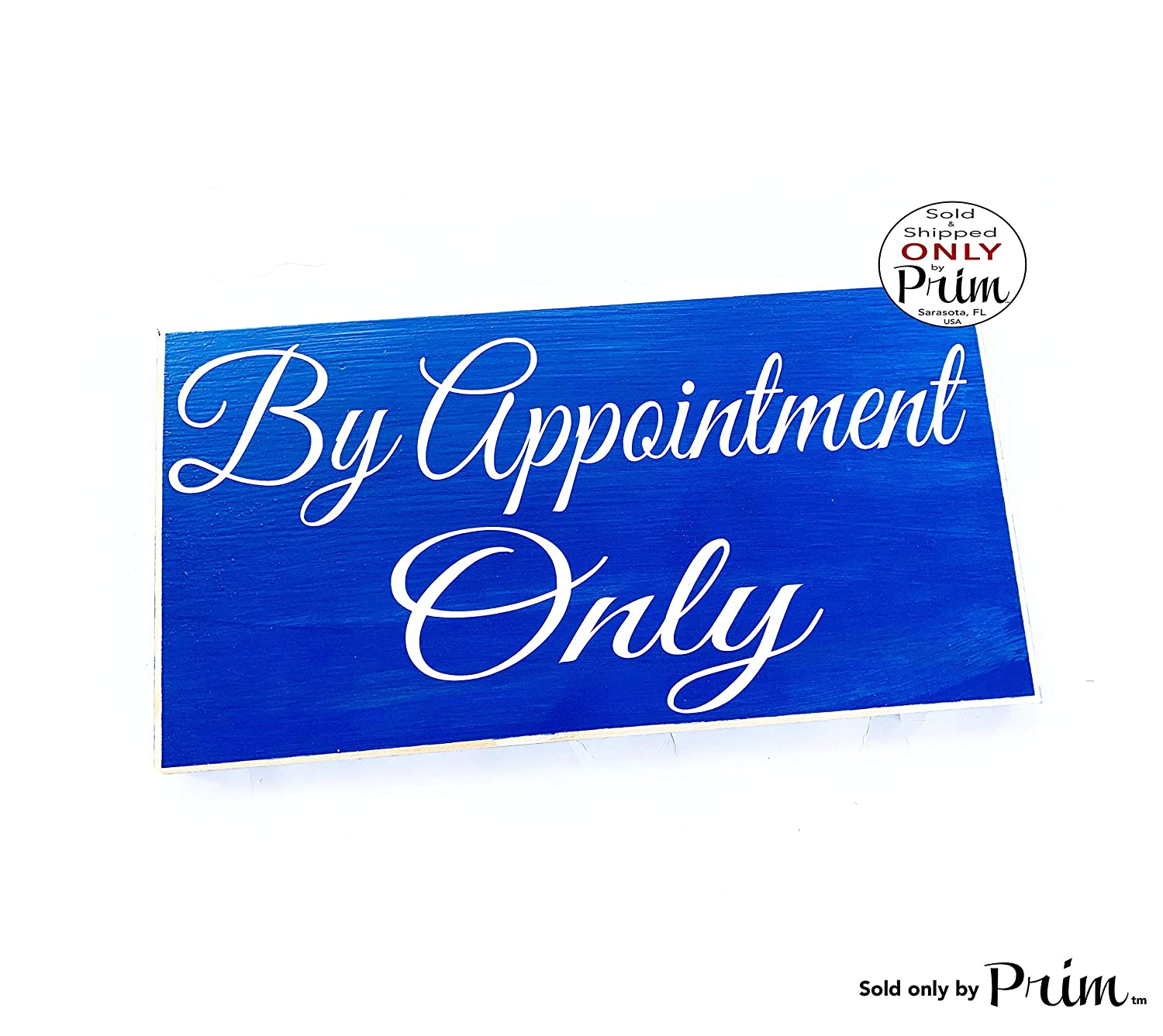 12x6 By Appointment Only Custom Wood Sign | In Progress Session Massage Spa Salon Office Call Open Closed Business Hours Wall Door Plaque