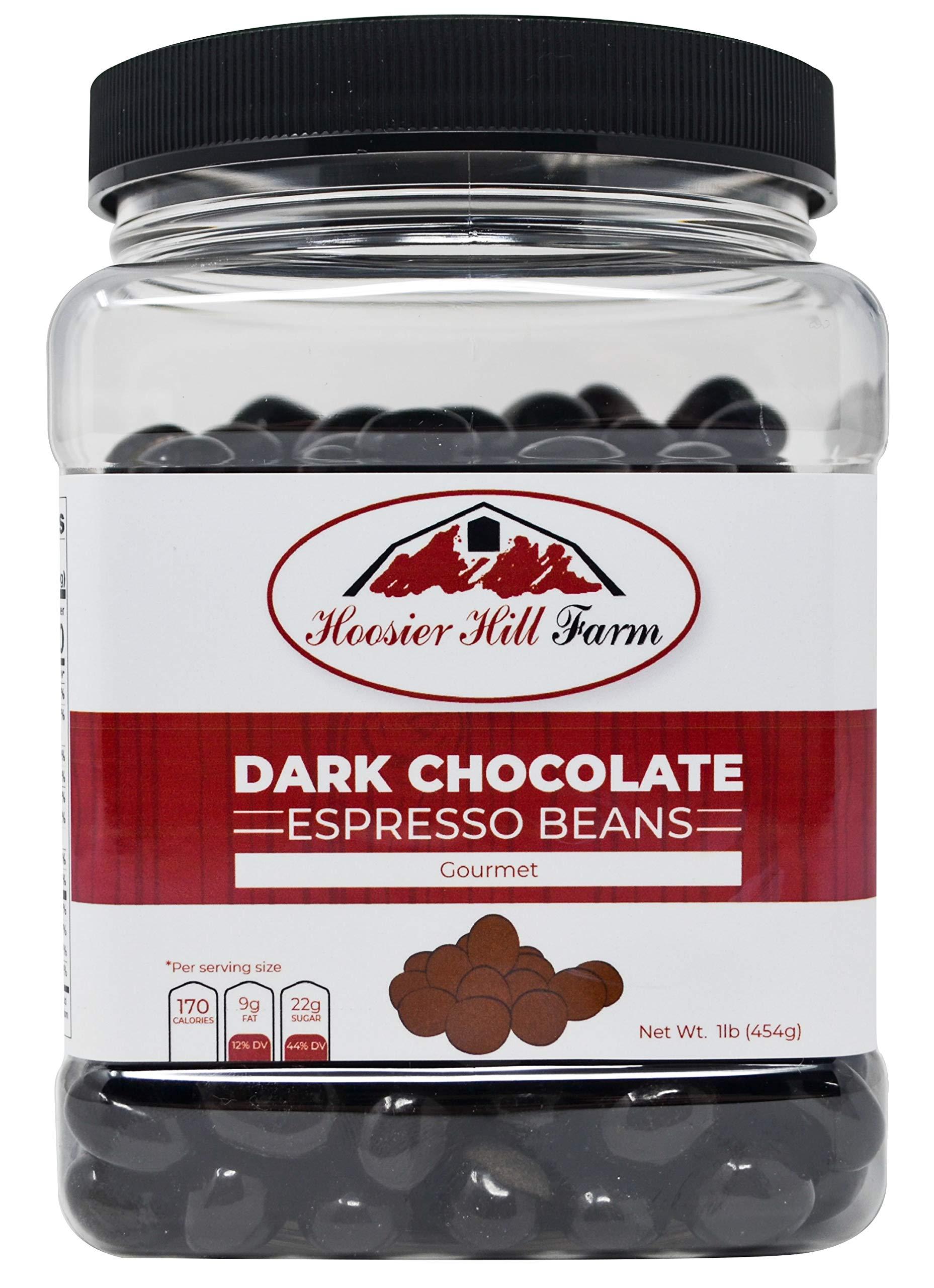 Hoosier Hill Farm Gourmet Dark Chocolate Espresso Beans, 16 Ounce
