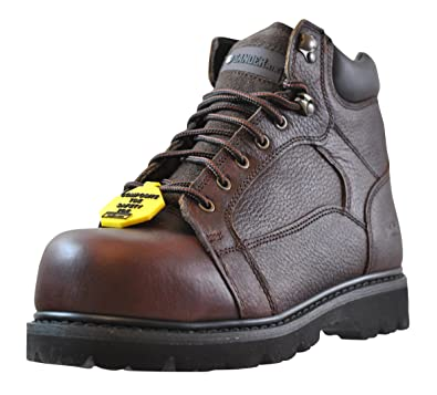 8c66577860d Gander Mountain Men's Rugged Force Work Boots, Brown, Available in Medium  and Wide Width
