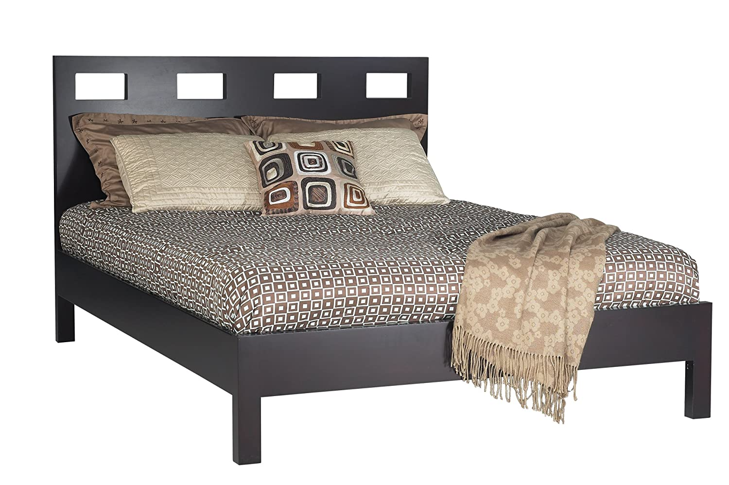 Modus Furniture Riva Platform Bed, Espresso, King