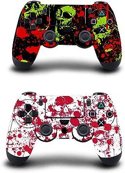 KINGWON Skin Sticker para mandos Playstation 4, calcomanías para accesorios de juegos de PS4, paquete de 2: Amazon.es: Electrónica