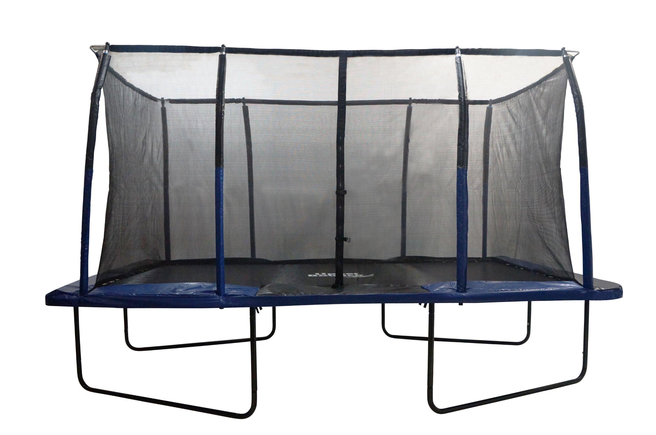 Upper Bounce Easy Assemble Spacious Rectangular Trampoline with Fiber Flex Enclosure Feature, 8 x 14-Feet