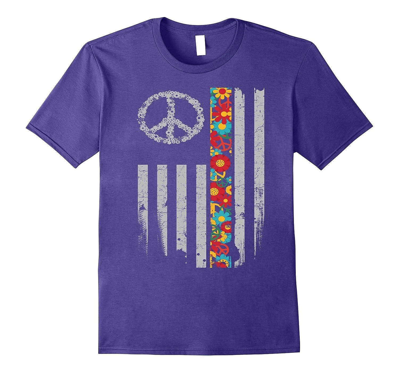 American Hippie Flag Shirt-CD