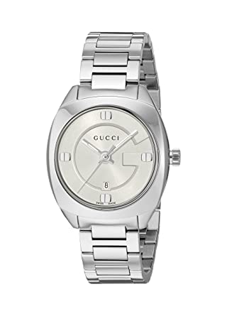 ffe49cc972e Gucci Swiss Quartz Stainless Steel Dress Silver-Toned Women s Watch(Model   YA142502)