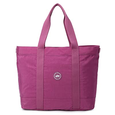 "Crest Design Water Repellent Nylon Large Lightweight Work School Travel Tote Bag Handbag fits up to 17"" Laptops 70%OFF"