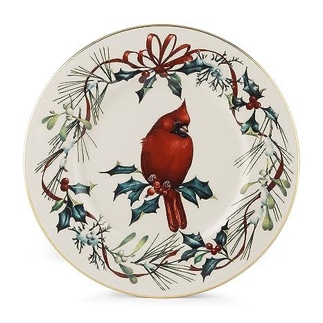 Amazon lenox winter greetings cardinal 9 accent plate lenox winter greetings cardinal 9quot accent plate m4hsunfo