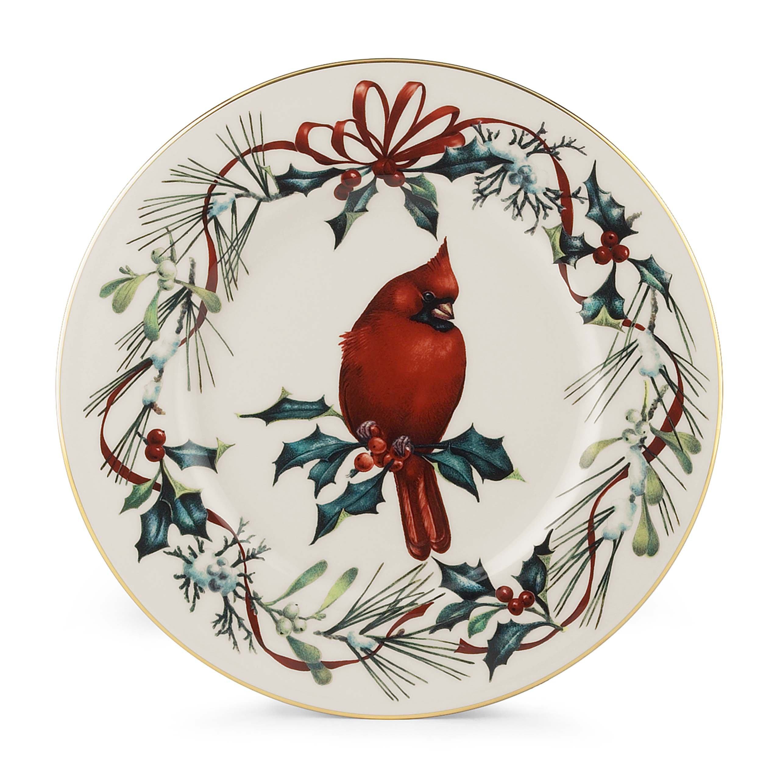 Lenox Winter Greetings Cardinal 9'' Accent Plate