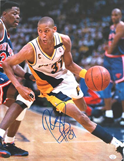 big sale a7047 e9935 Reggie Miller Indiana Pacers Signed Autographed 11