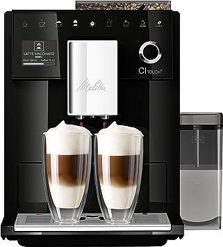Melitta CI Touch F630-102, Cafetera Automática con Molinillo Silencioso, Sistema de Leche, Pantalla Táctil, Limpieza Automática, Personalizable, 15 Bares, Negro: Amazon.es: Hogar