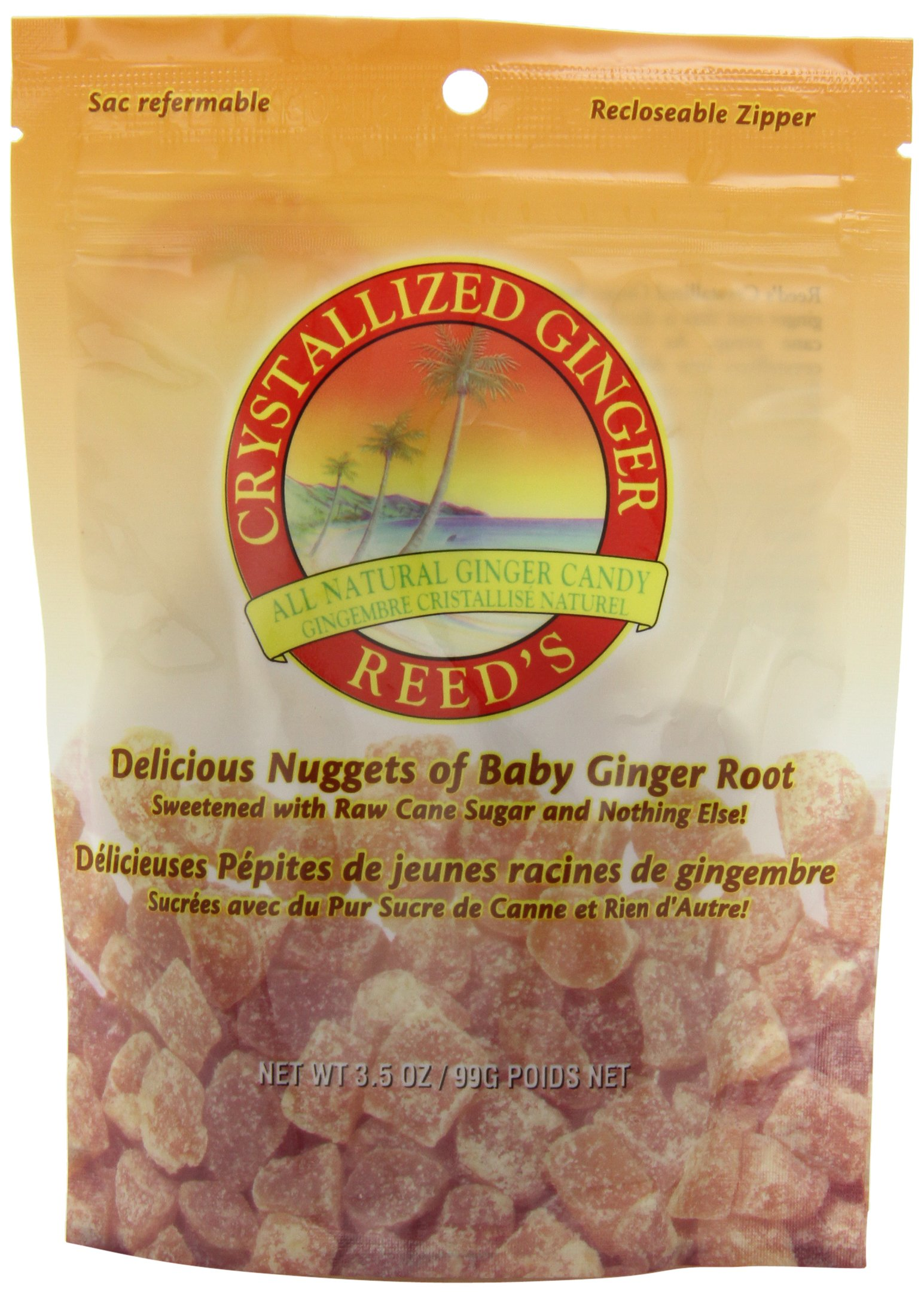 Reed's Crystallized Ginger Candy, 3.5 Ounce (Pack of 12) by Reeds