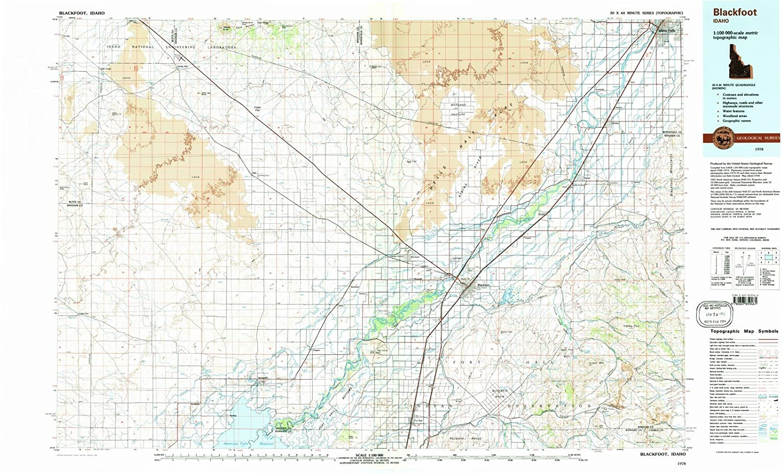 Amazon Com Idaho Maps 1978 Blackfoot Id Usgs Historical