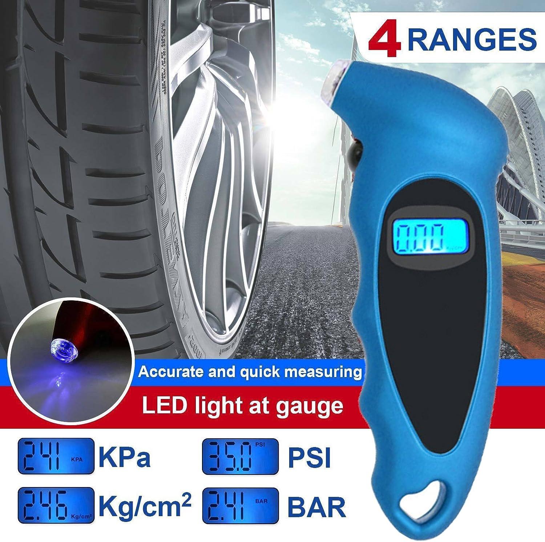 WINOMO Digital Tire Pressure Gauge 150 PSI for Car Truck Bicycle Blue