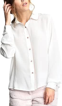 Caramelo, Camisa con Vivos A Contraste, Mujer · Crudo, Talla ...