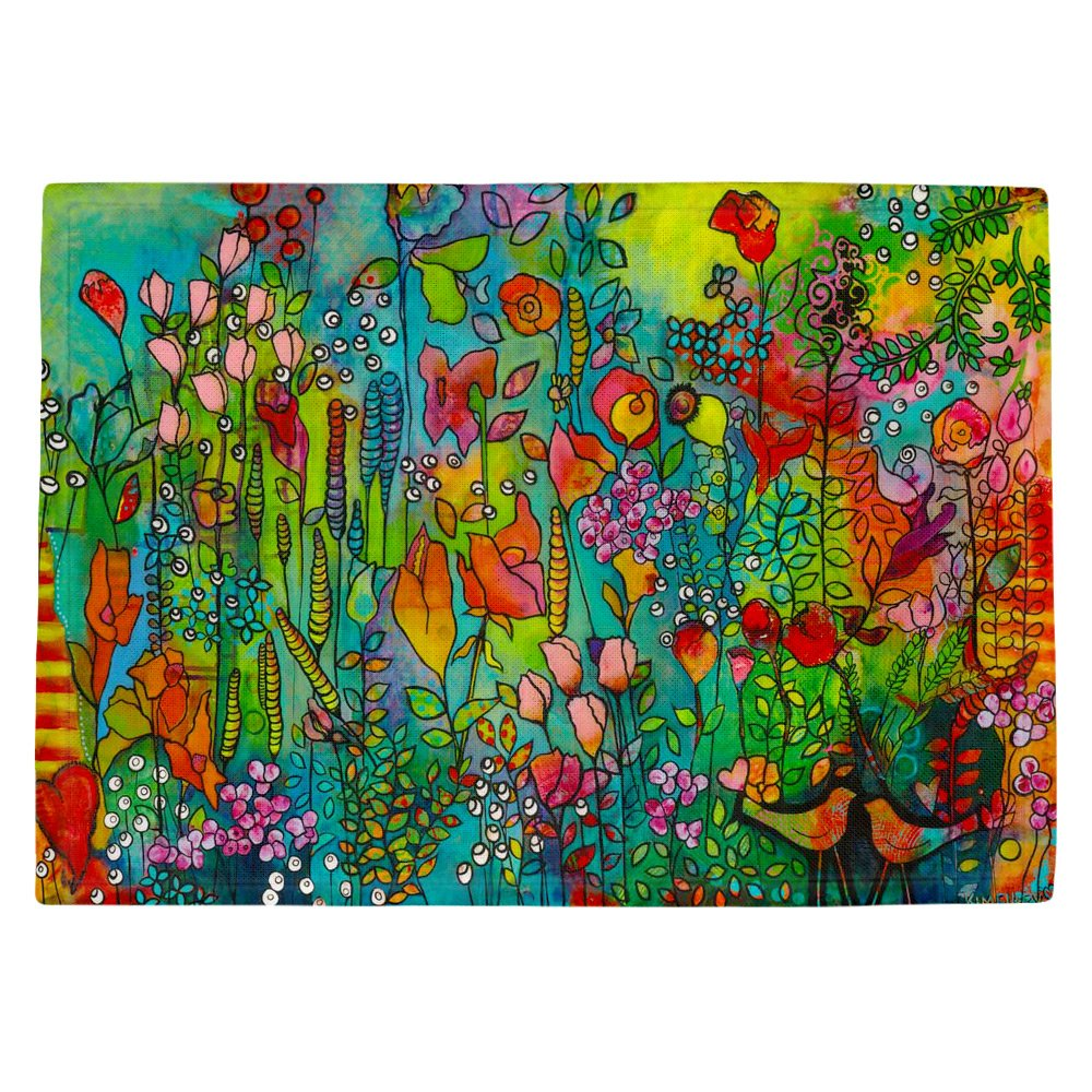 DIANOCHEキッチンPlaceマットby Kim Ellery Happy Place Set of 4 Placemats PM-KimElleryHappyPlace2 Set of 4 Placemats  B01EXSILPK