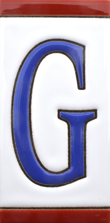direcciones y se/ñal/éctica pintados a mano en t/écnica cuerda seca para nombres Numeros y letras en azulejo de ceramica NUMERO SIETE 7 Dise/ño USA MEDIANO 10,9 cm x 5,4 cm. N/úmeros casa