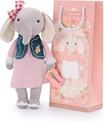 Me Too Stuffed Elephant Dolls Navy Vest Pink Dress 12 + Gift ...
