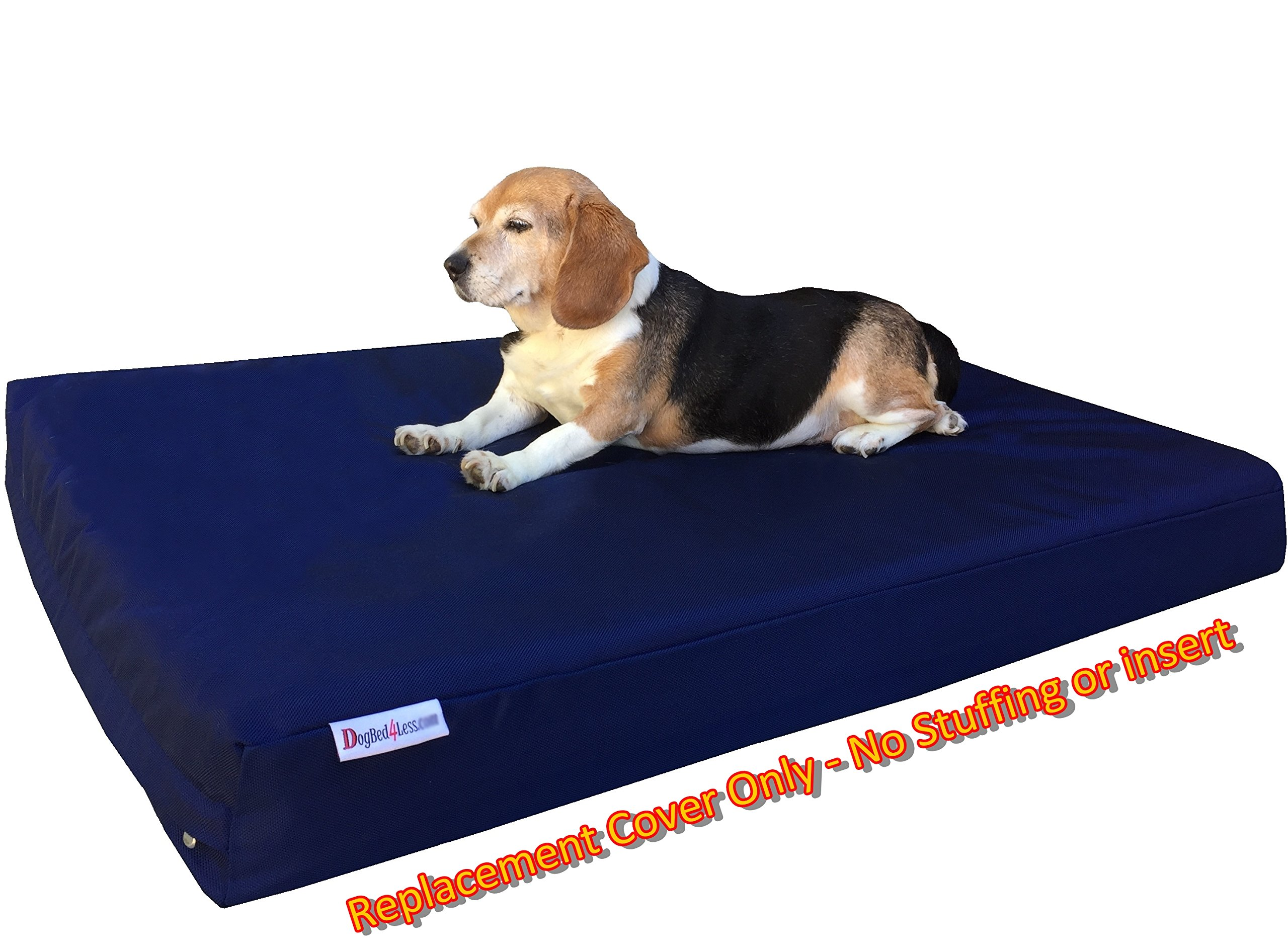 Dogbed4less Small Medium 1680 Ballistic Heavy Duty Dog Pet Bed External Zipper Duvet Cover - Replacement cover only, 35X20X4 Inches, Navy Blue by Dogbed4less (Image #4)