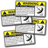 4 MINI GPS Vehicle Car Alarm Security Caution Warning Decal Sticker