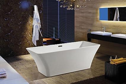 AKDY F295 Bathroom White Color Free Standing Acrylic Bathtub
