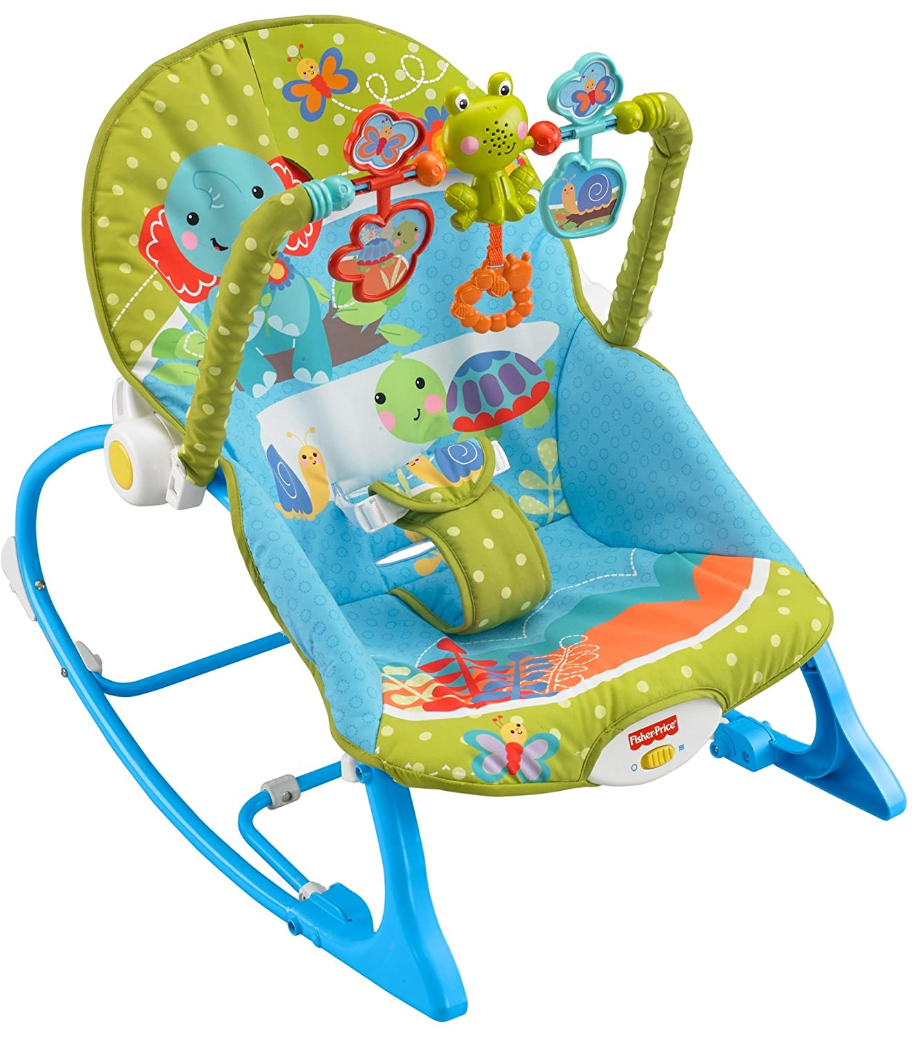 Attirant Amazon.com : Fisher Price Infant To Toddler Rocker, Green With Blue : Baby