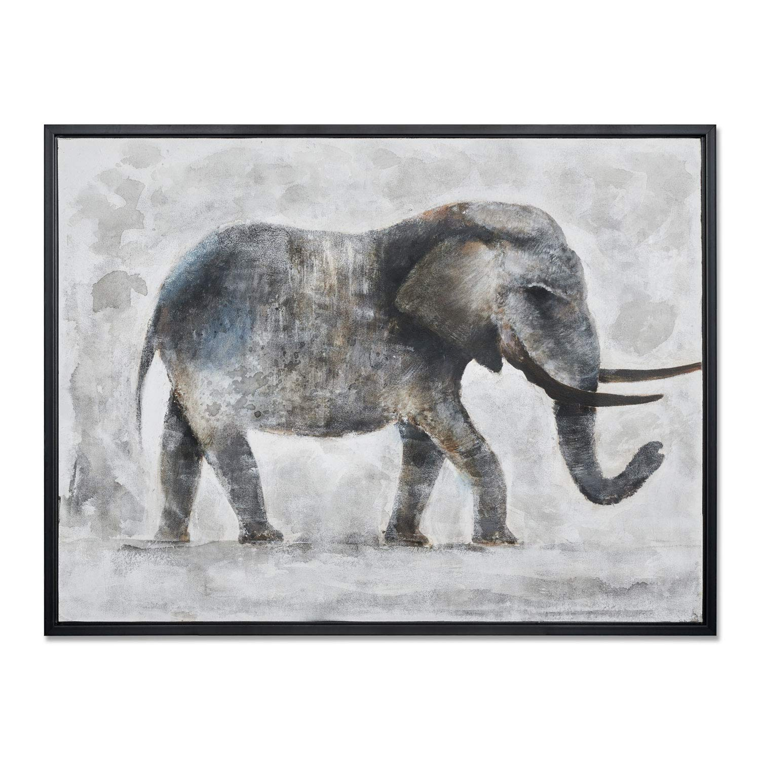 MOTINI Elephant Oil Painting on Canvas Hand Painted Framed Animal Painting, 30 x 40 Large Wall Paintings for Living Room Kitchen and Dining, Ready to Hang