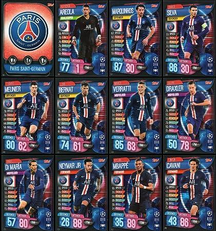 Match Attax Ligue des Champions 19//20 sélection de toutes les cartes Paris St Germain