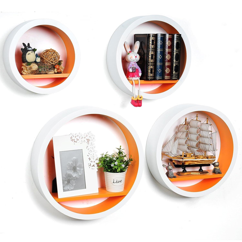 WOLTU RG9231o estante de pared estacionario, conjunto de 4 estante ...