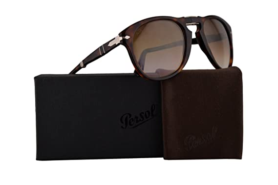 24dae86b058 Image Unavailable. Image not available for. Color  Persol PO0714S Folding  Sunglasses Havana w Brown ...