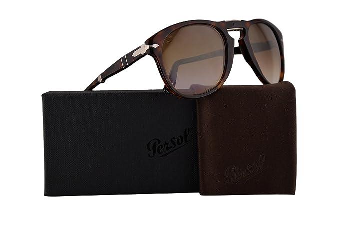 Persol Gafas de sol plegables PO0714S w/Marrón Degradado ...