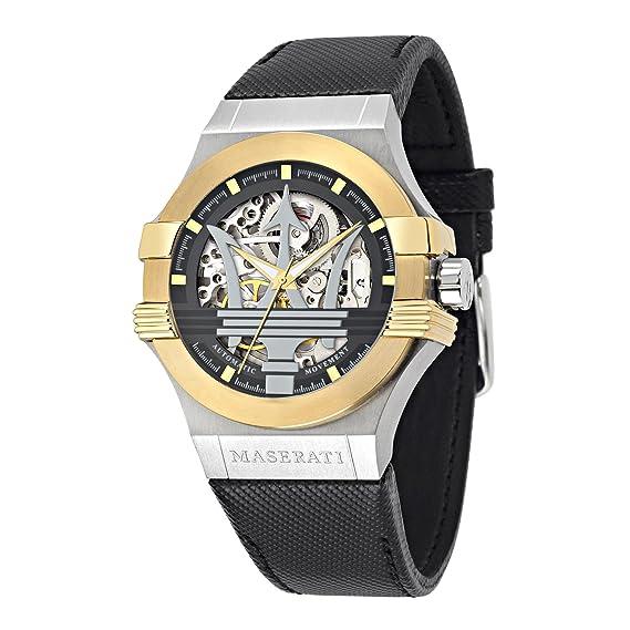 Maserati Reloj Analógico Automático para Hombre con Correa de Cuero - R8821108011: Maserati: Amazon.es: Relojes
