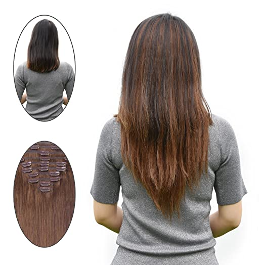 Remy clip in human hair extensions full head 16 inch 4 100 gram remy clip in human hair extensions full head 16 inch 4 100 gram 10 pcs pmusecretfo Choice Image
